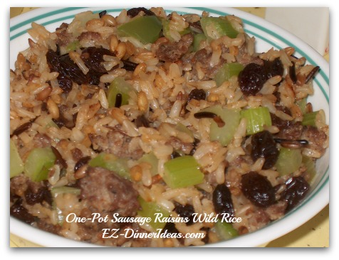 One-Pot Sausage Raisins Wild Rice