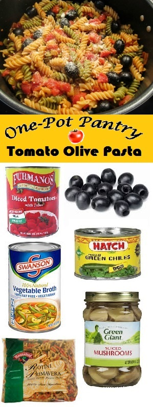 One-Pot Pantry Tomato Olive Pasta