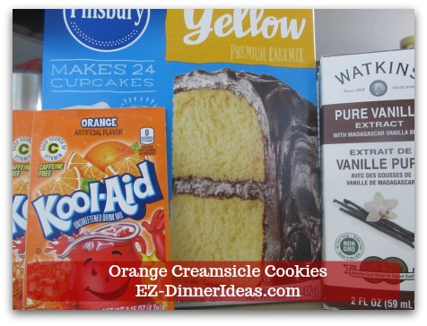 Easy Cake Mix Cookies Recipe | Orange Creamsicle Cookies - No French Vanilla Cake Mix?  Use regular yellow cake mix and add a teaspoon of vanilla extract.