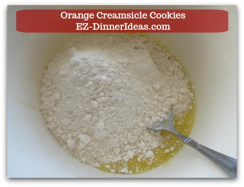 Easy Cake Mix Cookies Recipe | Orange Creamsicle Cookies - Stir in a box of cake mix.