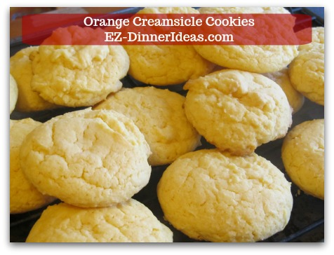Easy Cake Mix Cookies Recipe | Orange Creamsicle Cookies - Transfer cookies to wire rack and let them cool at room temperature.