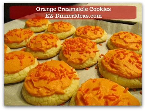 Easy Cake Mix Cookies Recipe | Orange Creamsicle Cookies - Add sprinkles on top and ENJOY!
