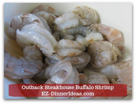 Outback Steakhouse Buffalo Shrimp - 1 pound Shrimp (16/20 counts or whatever size is on sale; shelled and devined)