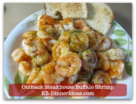 Outback Steakhouse Buffalo Shrimp - Serve with crusty bread and ENJOY!