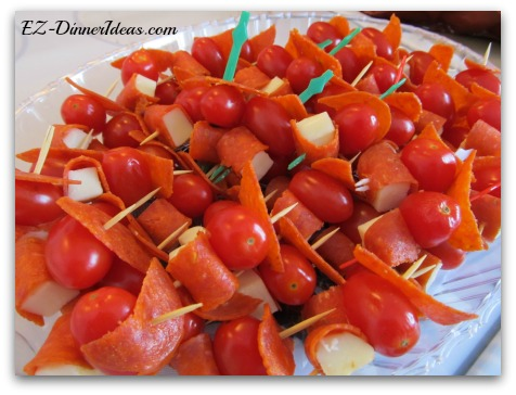Pepperoni Tomato Cheese Bites