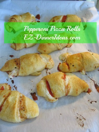 Pepperoni Pizza Rolls - Let sit in room temperature for 5 minutes before serving