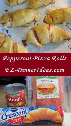 4 ingredients make Pepperoni Pizza Rolls