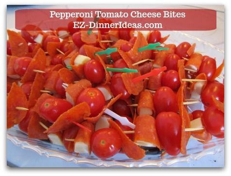 Cheese Finger Food | Pepperoni Tomato Cheese Bites - All flavors burst in one bite.  ENJOY!