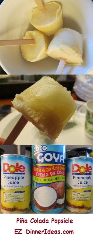 Piña Colada Popsicle