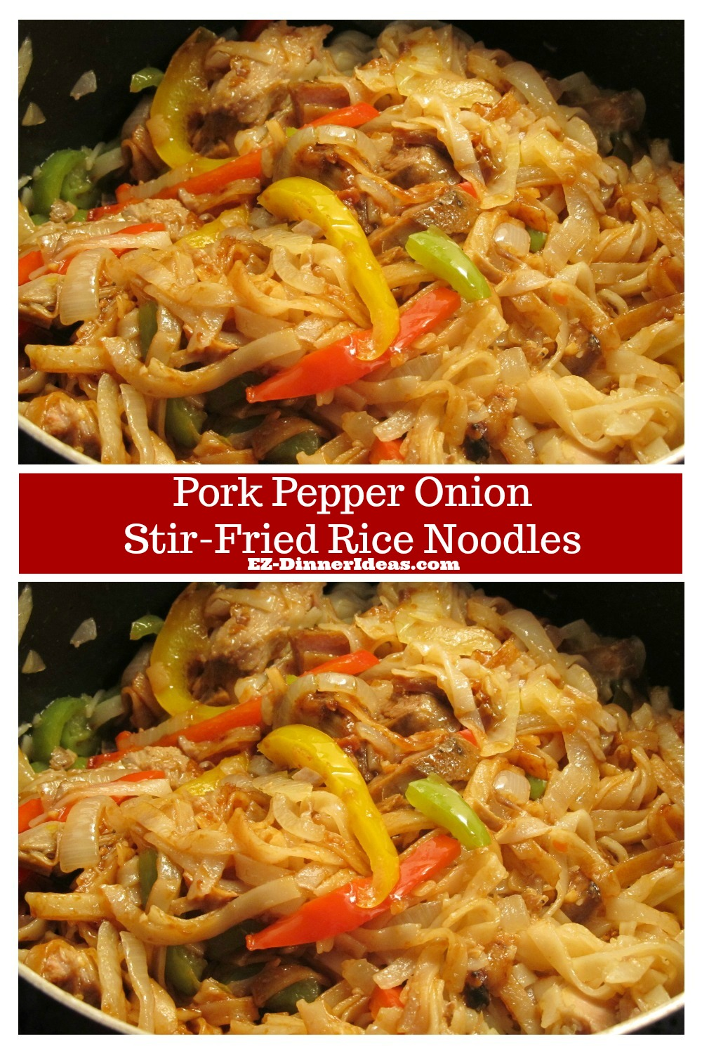 This pork and noodles recipe is not only yummy, but also very versatile.  You can use leftover or fresh pork.  Or totally skip it to make it a vegetarian dish.