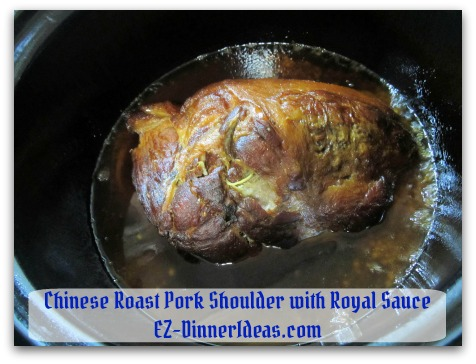 Crockpot Pork Roast Recipe - Until meat is fork tender