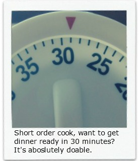 Quick and Easy Dinner Recipes - Dinner ready in 30 minutes.