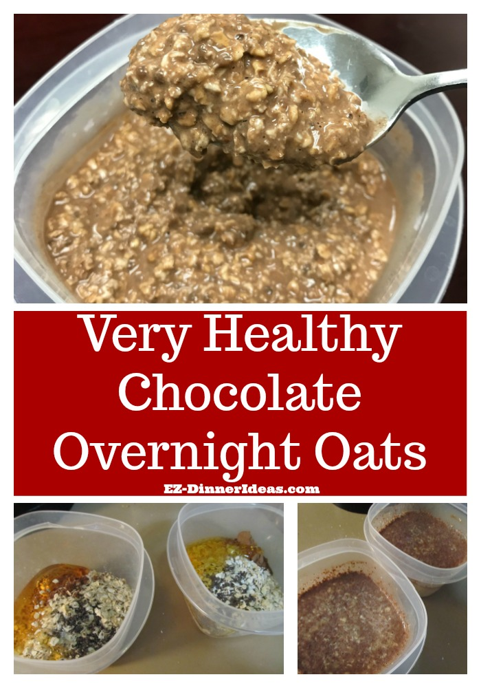 Quick Healthy Breakfast Idea | Very Healthy Chocolate Overnight Oats - It is perfectly for any chocolate lovers to start a morning guilt free.  It is like having dessert in the morning.