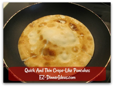 Quick And Thin Crepe-Like Pancakes - It is still edible.  Once you pass the first pancake, you are good to go.