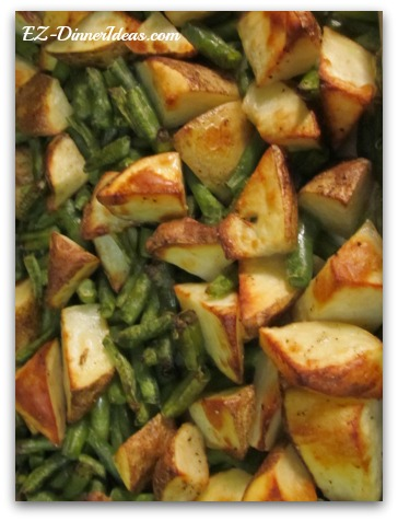 Roasted Potatoes Green Beans