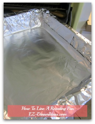 How To Line Baking Pan With Foil