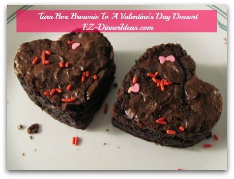 Turn Box Brownie To A Valentine's Day Dessert