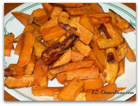 A little bit of dried herbs definitely kick up a notch of this Rosemary sweet potato oven fries.