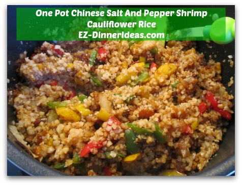 One Pot Chinese Salt And Pepper Shrimp Cauliflower Rice - Cook until all frozen vegetables and cauliflower rice are thawed