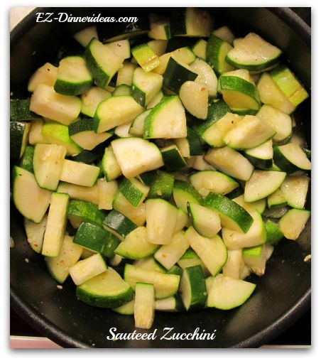 Sauteed zucchini...an easy side dish recipe.  Super healthy and quick to make.  Served it with rice and turn it into another easy dinner idea.