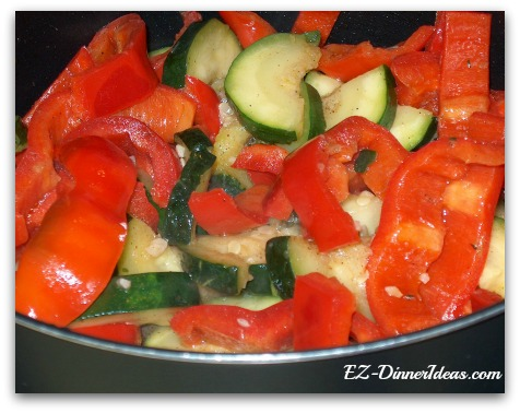 Sauteed Zucchini Bell Peppers