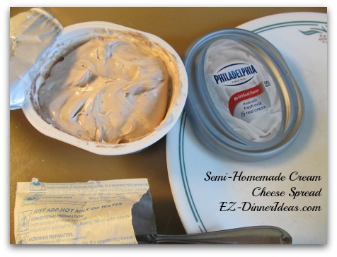 Semi-Homemade Cream Cheese Spread - Ready to rock and roll.  Serve it immediately or chill it in the fridge to enjoy later