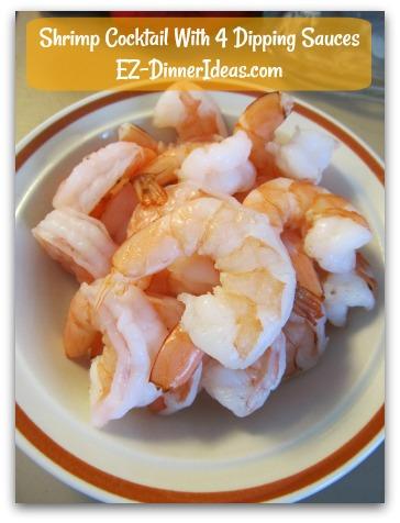 Shrimp Cocktail With 4 Dipping Sauces - A Shortcut To Thaw Frozen Shrimp