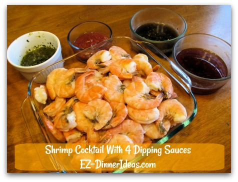 Shrimp Cocktail With 4 Dipping Sauces Seafood Lover Feast