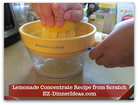 Lemonade Concentrate Recipe from Scratch - Perfect for recruiting some little helpers in your household to make this thirst-quenching drink