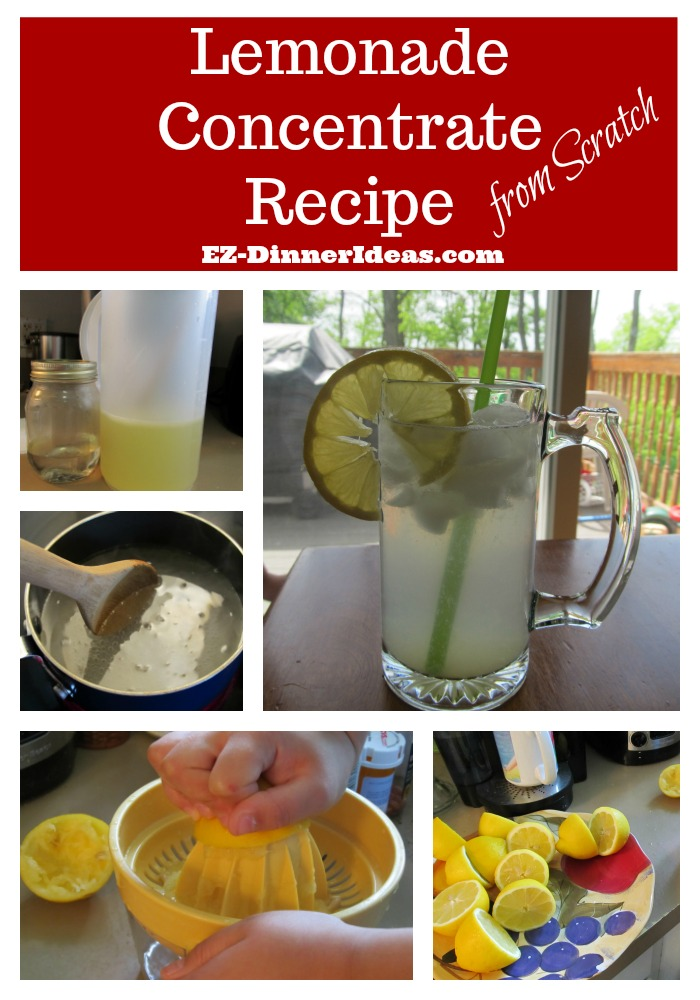 Simple Healthy Lemonade Concentrate recipe from scratch allows you to please everybody by making their own lemonade and adjust to their desired sweetness with controlled consumption of sugar.