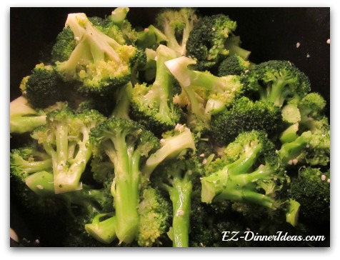 This simply sauteed broccoli is easy, healthy and good-looking.  Eating healthy is not too bad after all.