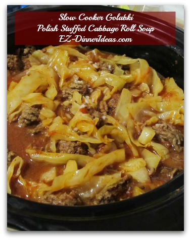 Slow Cooker Golabki Polish Stuffed Cabbage Roll Soup