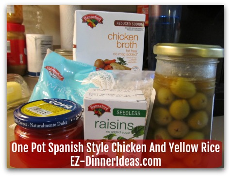 One Pot Spanish Style Chicken And Yellow Rice - With 5 pantry staples and chicken can make this awesome chicken and rice recipe from scratch