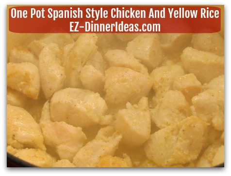 One Pot Spanish Style Chicken And Yellow Rice - Under cook the chicken at this time