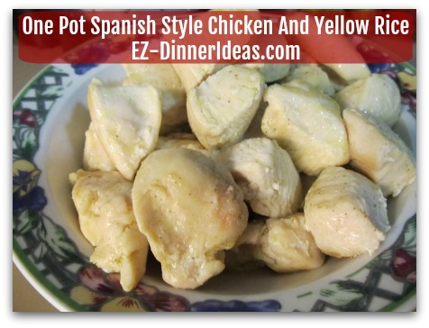 One Pot Spanish Style Chicken And Yellow Rice - Transfer chicken to a bowl/plate and put aside