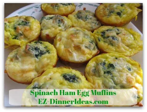 Spinach Ham Egg Muffins - Easy to eat, figure-friendly and filling, how can you resist these cuties?