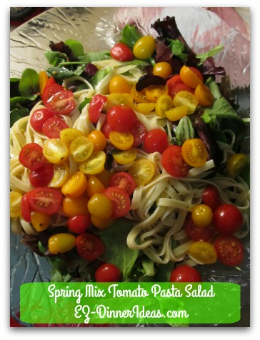 Spring Mix Tomato Pasta Salad A Beautiful and Colorful Meal Make Everyday Looks Like Spring