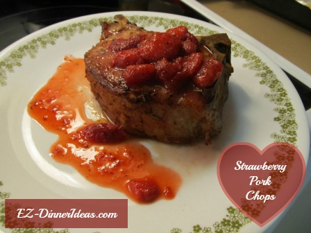 Strawberry Pork Chops