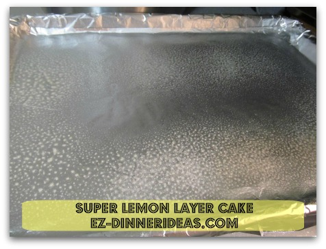 Lemon Cake Mix Recipe | Super Lemon Layer Cake - Coat with cooking spray to keep parchment paper stay in place