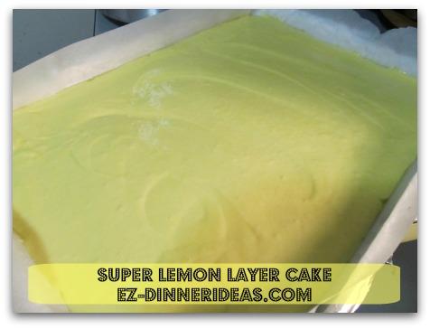 Lemon Cake Mix Recipe | Super Lemon Layer Cake - Pour cake batter into baking sheet and bake
