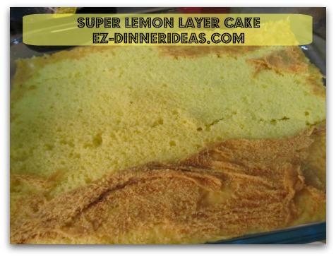 Lemon Cake Mix Recipe | Super Lemon Layer Cake - Cut sheet cake into halves crosswise.  Transfer one half into a baking dish