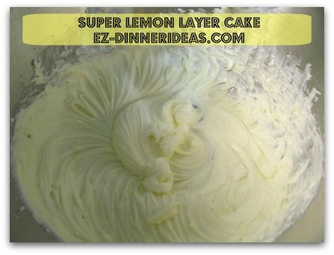 Lemon Cake Mix Recipe | Super Lemon Layer Cake - Beat cream cheese filling with hand mixer until well blended
