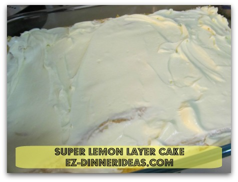 Lemon Cake Mix Recipe | Super Lemon Layer Cake - Top the first layer of the cake with cream cheese filling