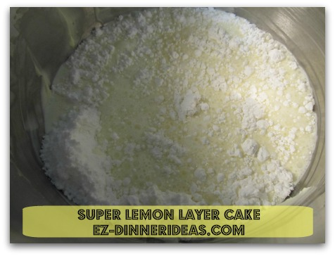 Lemon Cake Mix Recipe | Super Lemon Layer Cake - Use the same mixing bowl and beat topping until peaks formed