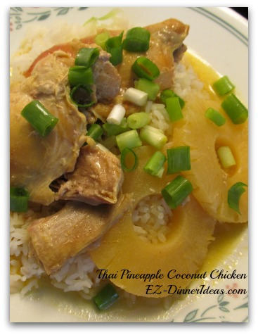 Slow Cooker Thai Pineapple Coconut Chicken