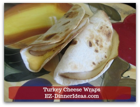 Easy Breakfast Idea | Turkey Cheese Wraps - The wraps are crispy on the outside; gooey on the inside.