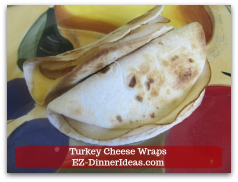 Turkey Cheese Wraps - make single serving with your toaster for a quick on-the-go breakfast before heading out the door in the morning.