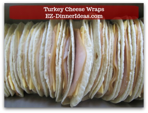 Easy Breakfast Idea | Turkey Cheese Wraps - These wraps are crowd pleaser, too.  So, serve them in breakfast meeting is a no-brainer.
