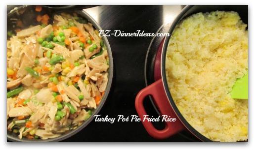 Turkey (or Chicken) Pot Pie Fried Rice
