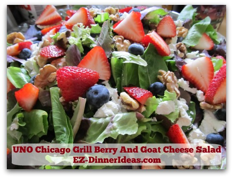 UNO Chicago Grill Berry And Goat Cheese Salad - Warning:  You will get addicted
